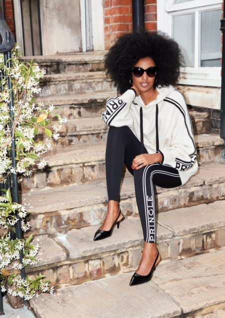 Julia Sarr-Jamois Wears H&M x Pringle of Scotland's Chic Knits