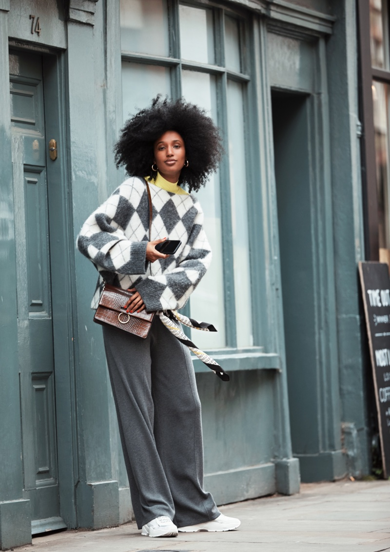 The H&M x Pringle of Scotland collection spotlights knitwear styles