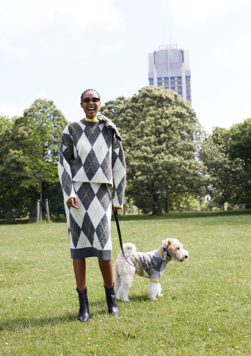 Argyle prints stand out in H&M x Pringle of Scotland campaign