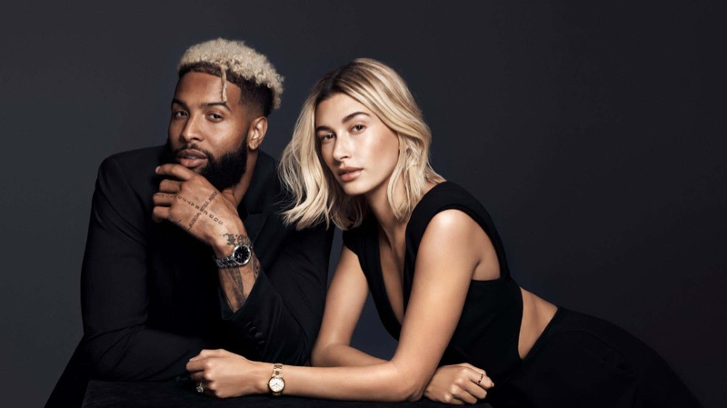 Odell Beckham Jr. and Hailey Baldwin front Daniel Wellington Iconic Link campaign