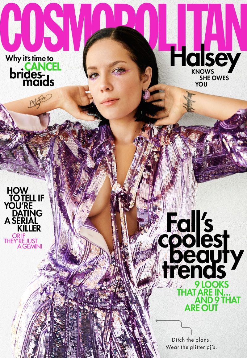 Halsey on Cosmopolitan October 2019 Cover