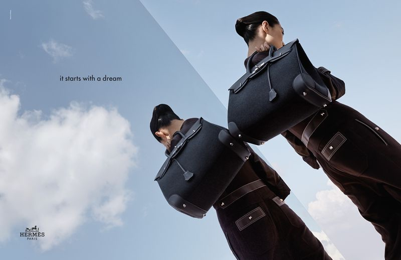 An image from Hermes' fall 2019 advertising campaign
