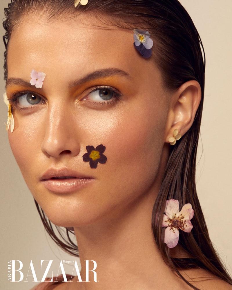 Hilal Ata Is In Full Bloom for Harper's Bazaar Arabia