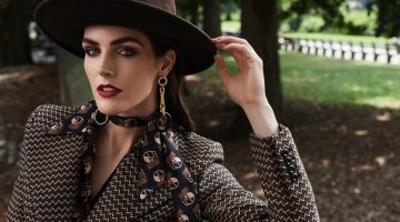 Hilary Rhoda Wears French Girl Looks for SCMP Style