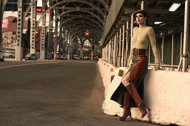 Hilary Rhoda Wears French Girl Looks for SCMP Style