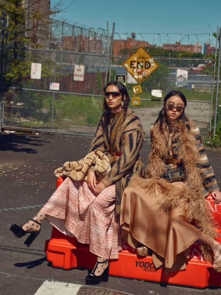 Chloe Tang & Luping Wang Model Fall Outerwear for InStyle Germany