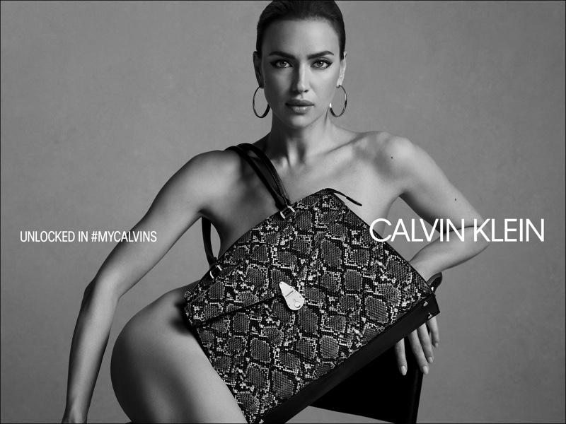 Posing without clothes, Irina Shayk fronts Calvin Klein fall 2019 handbag campaign