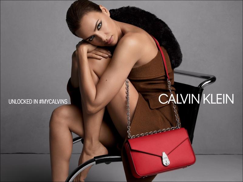 Model Irina Shayk appears in Calvin Klein fall 2019 handbags campaign