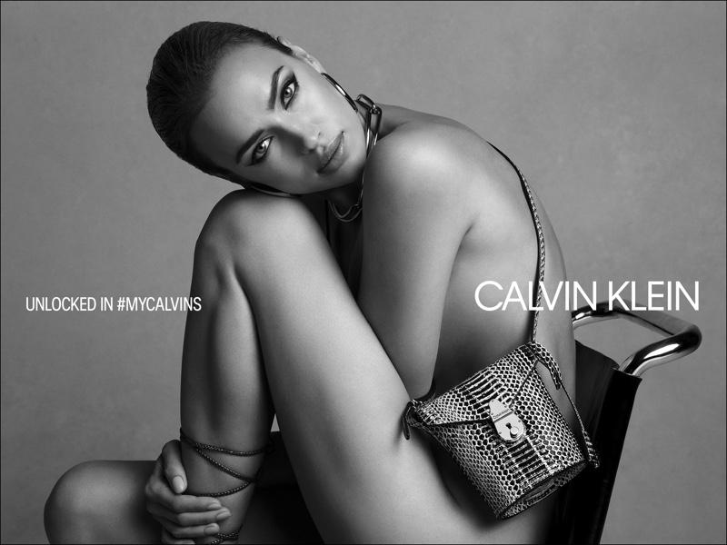 Posing nude, Irina Shayk fronts Calvin Klein fall 2019 handbags campaign