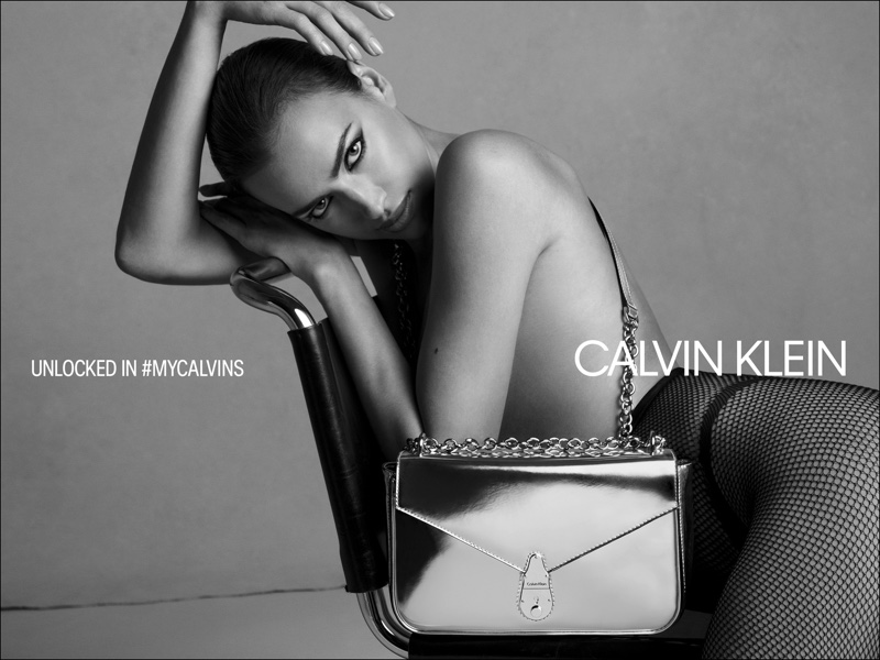 An image from Calvin Klein's fall 2019 handbags advertising campaign