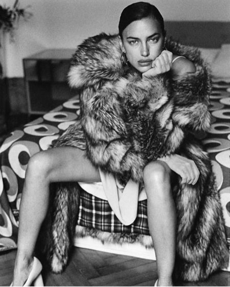 Irina Shayk Charms in Black & White for DSECTION. Magazine