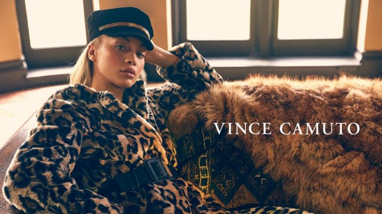 Model Jasmine Sanders fronts Vince Camuto fall-winter 2019 campaign