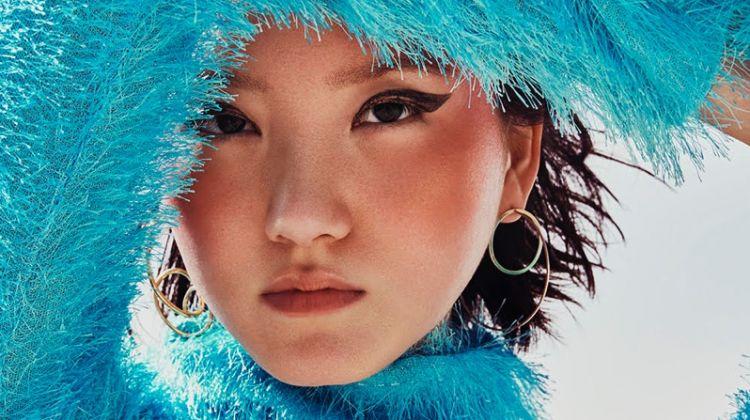 Joony Kim Models Sustainable Style for Glamour UK