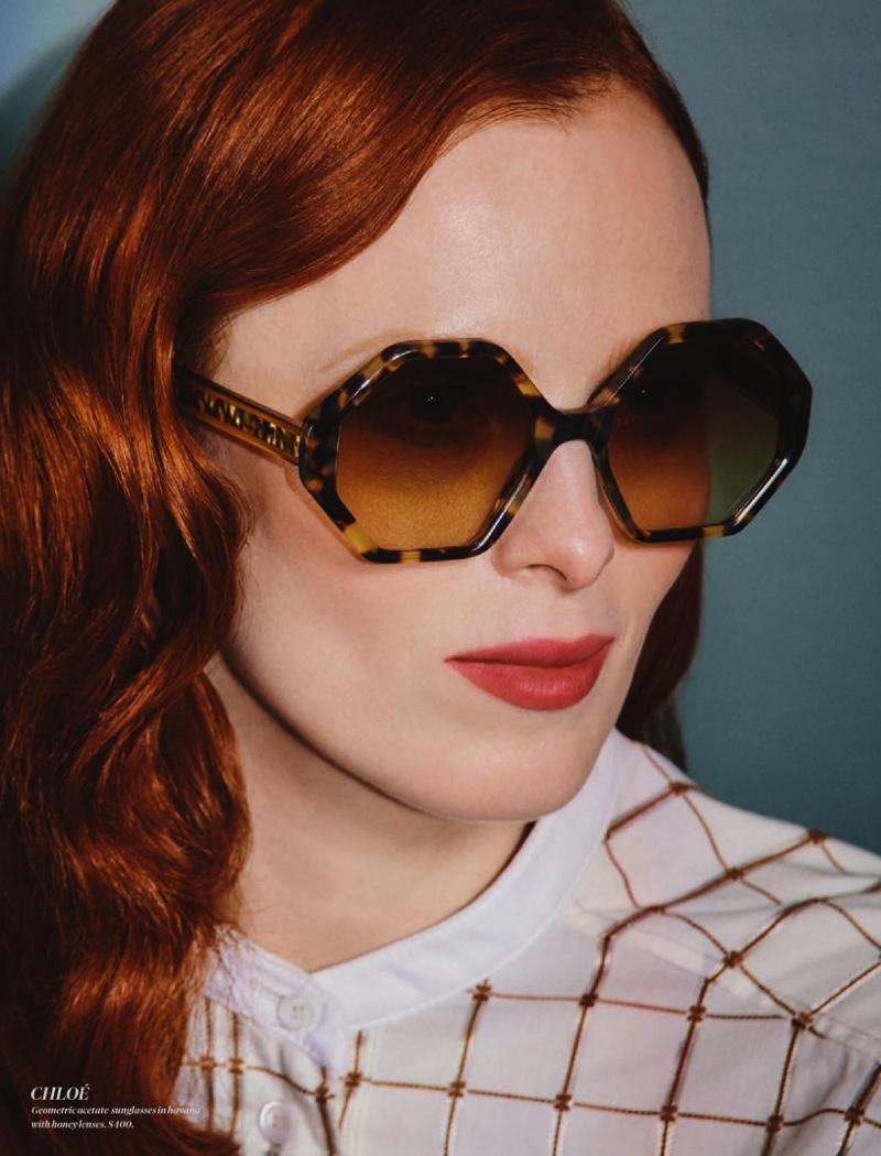 Karen Elson Wears Sophisticated Looks for Holt Renfrew Magazine