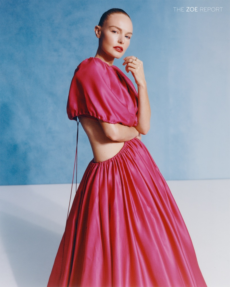 Kate Bosworth wears pink Brandon Maxwell ball gown