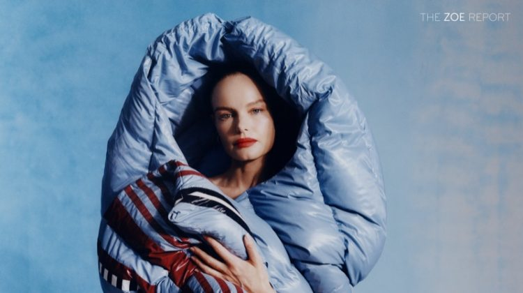 Actress Kate Bosworth poses in 1 Moncler Pierpaolo Piccioli jacket and skirt