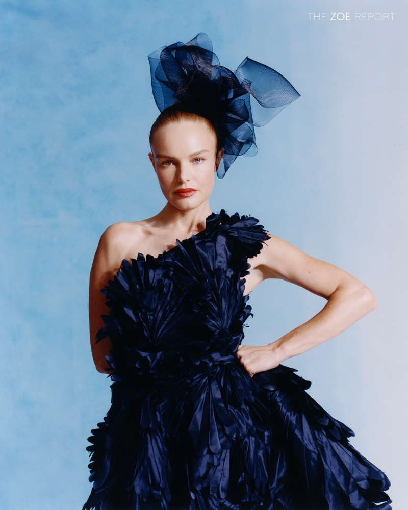 Actress Kate Bosworth strikes a pose in Richard Quinn gown