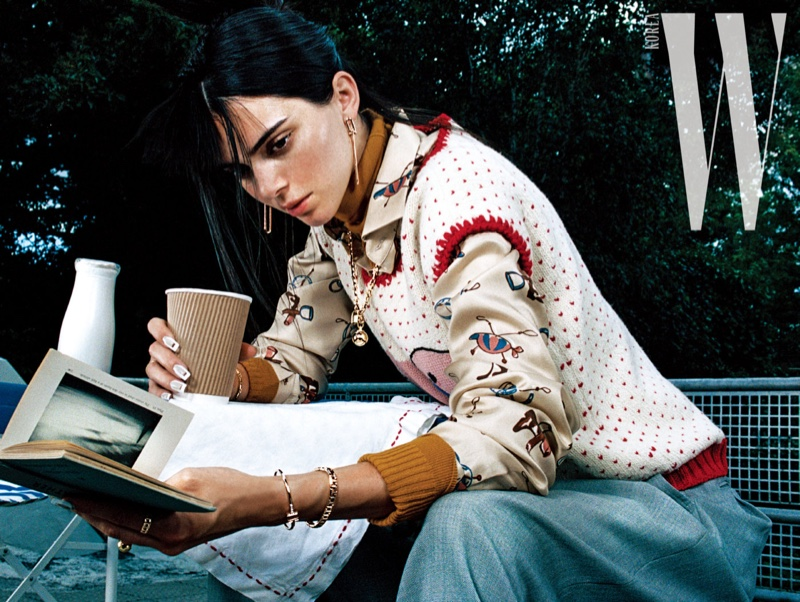 Kendall Jenner Poses in Standout Styles for W Korea