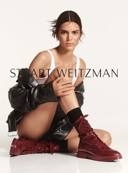 Model Kendall Jenner wears MCKENZEE boot in Stuart Weitzman #SWSTRENGTH fall-winter 2019 campaign