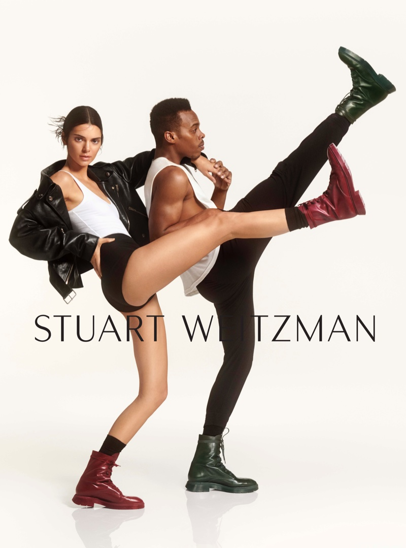 Kendall Jenner and Lil Buck appear in Stuart Weitzman #SWSTRENGTH fall-winter 2019 campaign