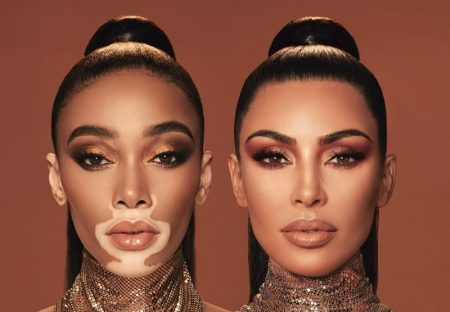 Winnie Harlow and Kim Kardashian star in KKW Beauty collaboration