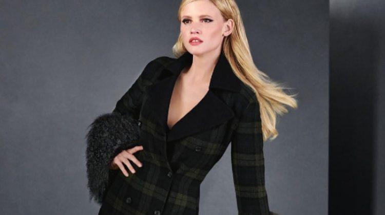 Lara Stone Models Ladylike Looks for Holt Renfrew Magazine