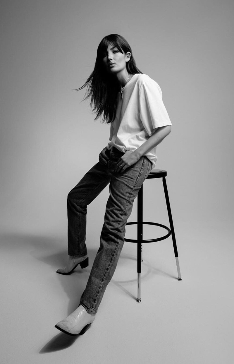 Keeping it casual, Lily Aldridge fronts Levi's Made & Crafted campaign