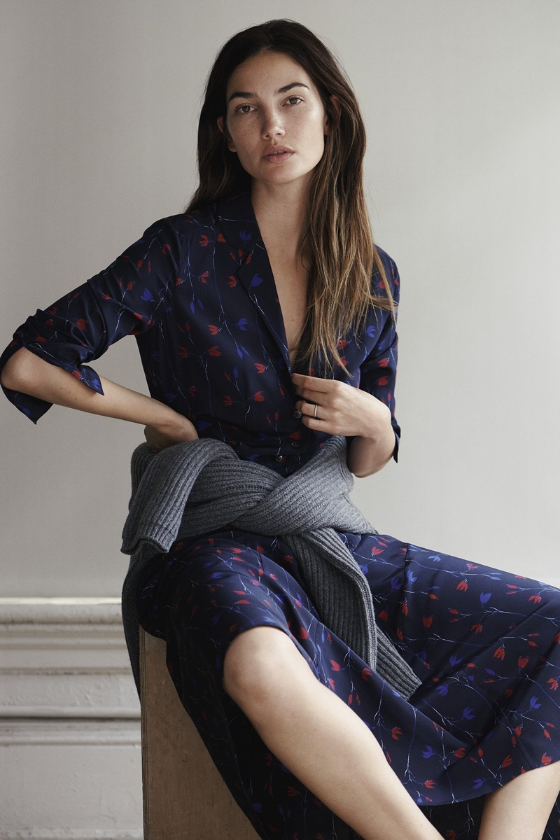 Model Lily Aldridge appears in Thakoon relaunch campaign