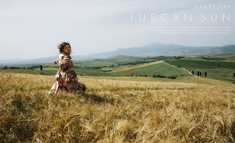 Lindsey Wixson Poses Outdoors in Romantic Styles for ELLE
