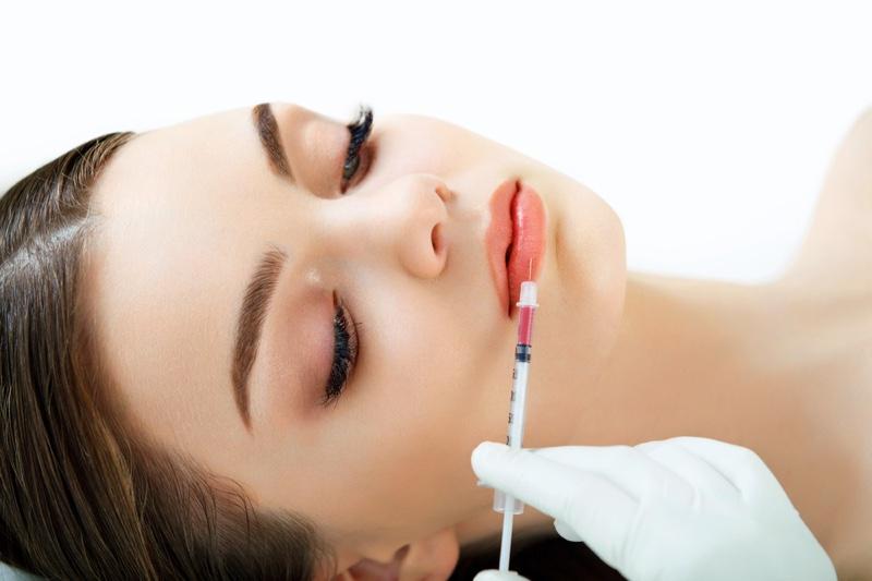 Lip Injection Model Beauty Needle
