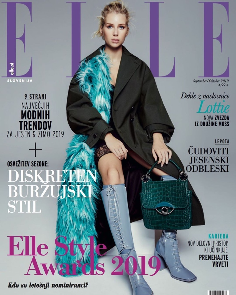 Lottie Moss Wears New Season Looks for ELLE Slovenia