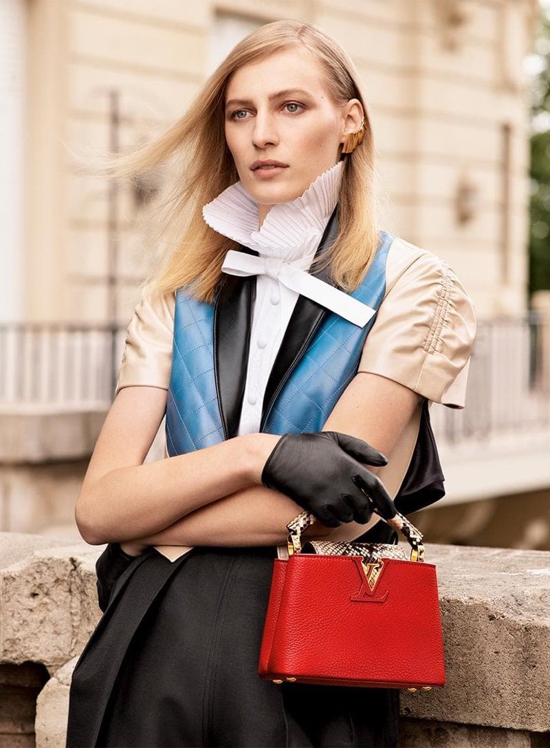 Julia Nobis stars in Louis Vuitton Capucines fall-winter 2019 campaign