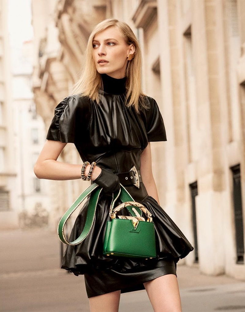 Louis Vuitton spotlights Capucines bag in emerald green