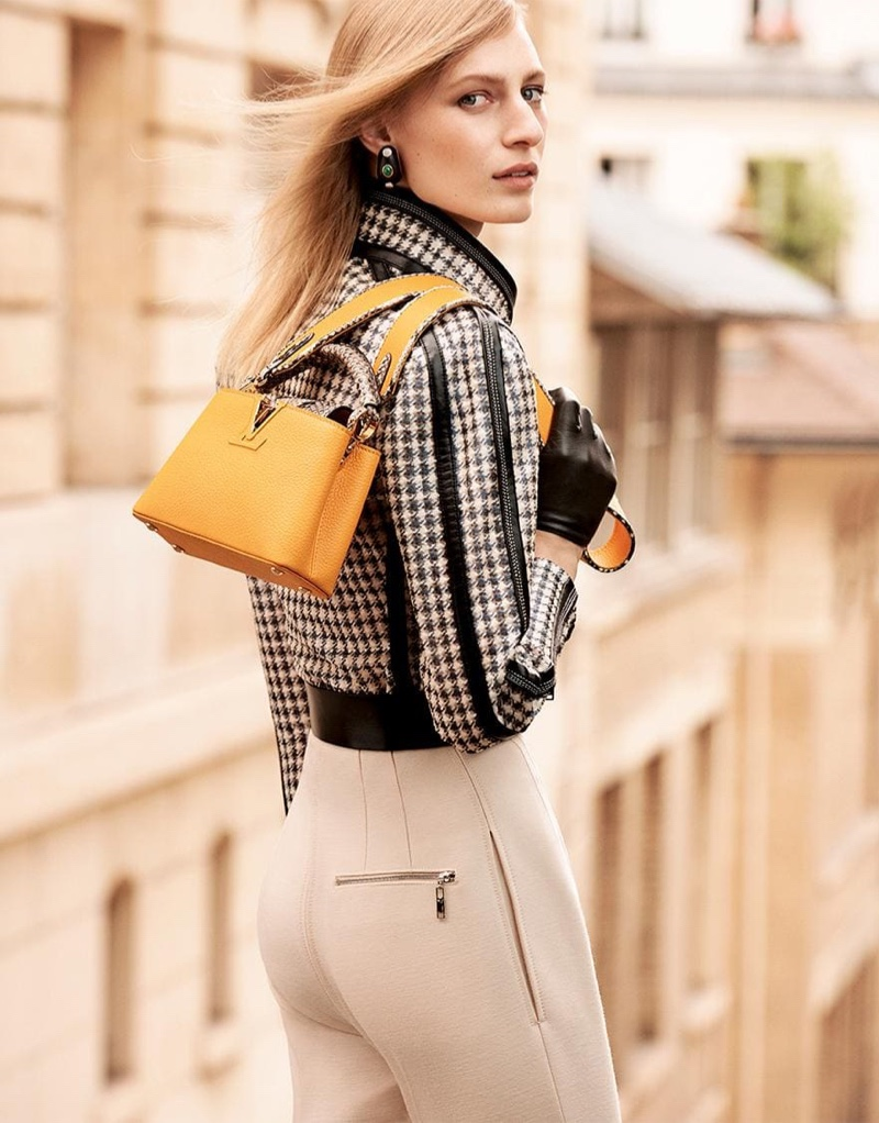 Louis Vuitton Capucines bag in golden yellow for fall-winter 2019
