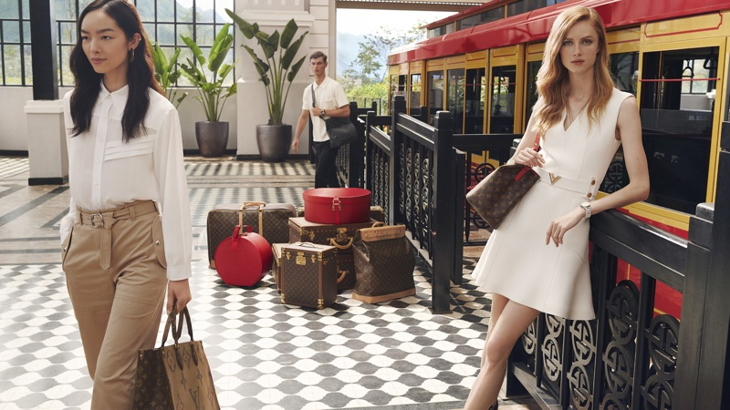 Fei Fei Sun and Rianne van Rompaey star in Louis Vuitton Spirit of Travel 2019 campaign