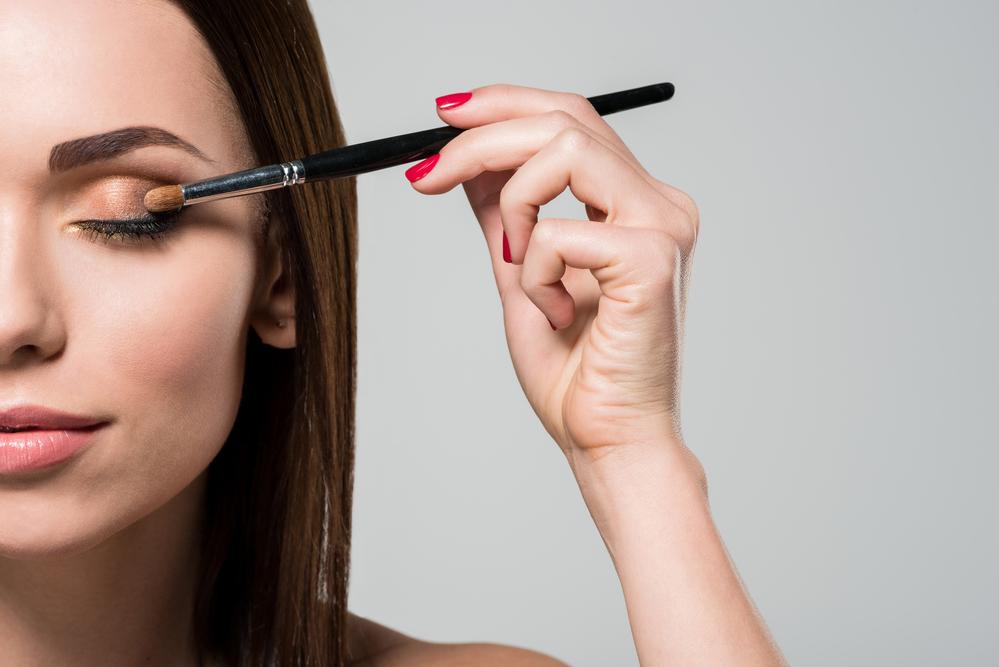 Makeup Applying Eye Shadow
