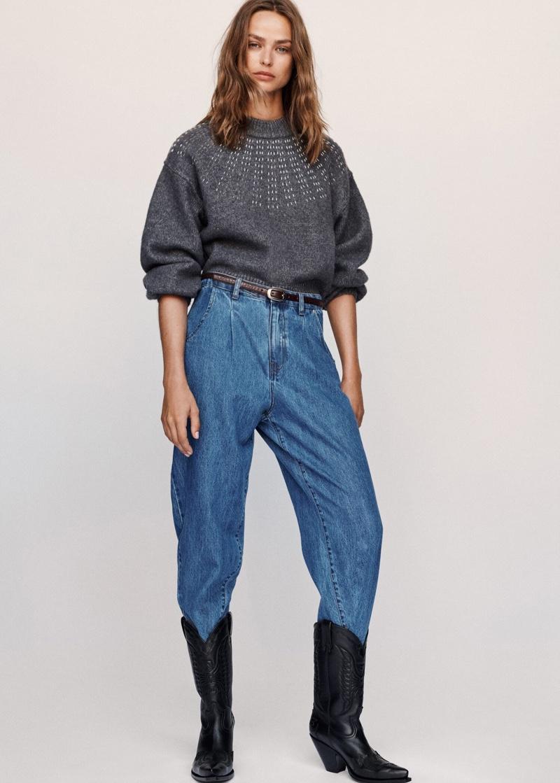 Birgit Kos models fall 2019 denim styles from Mango