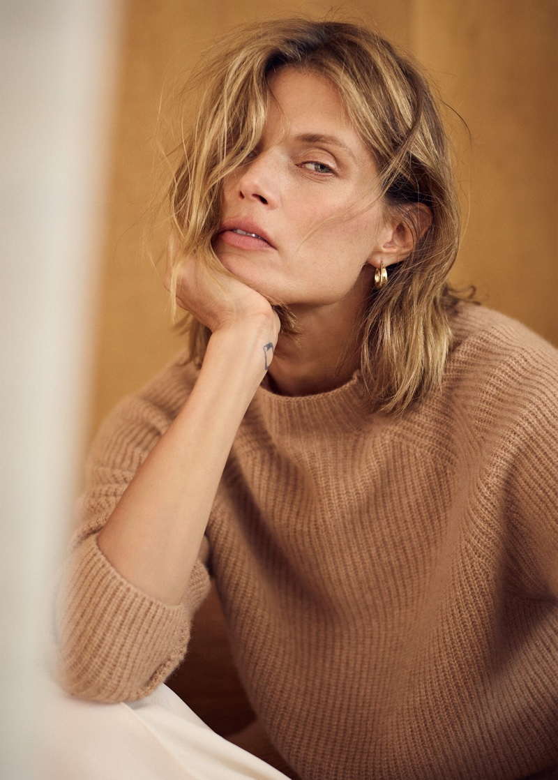 Malgosia Bela stars in Mango Selected fall-winter 2019 lookbook