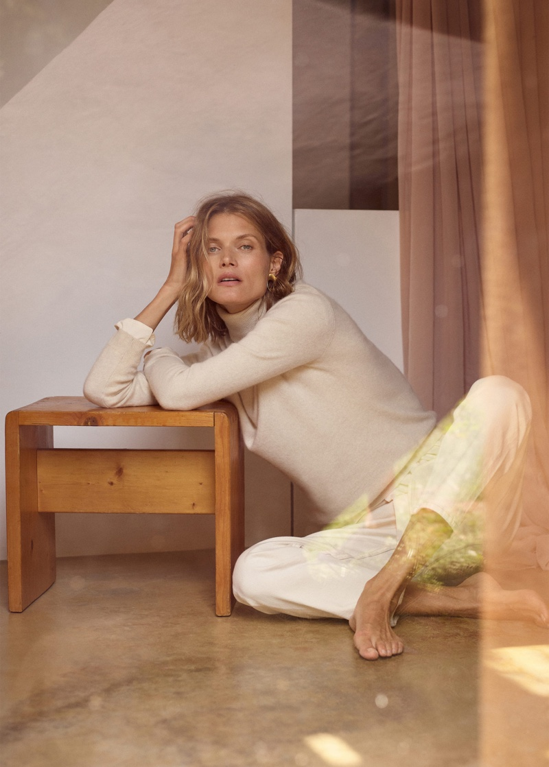 Malgosia Bela fronts Mango Selected fall-winter 2019 lookbook