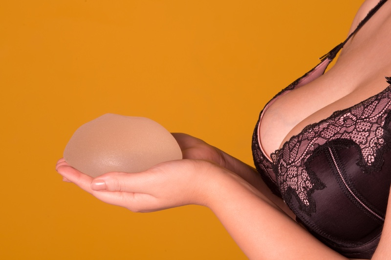 Model Silicone Implant Hand Bra