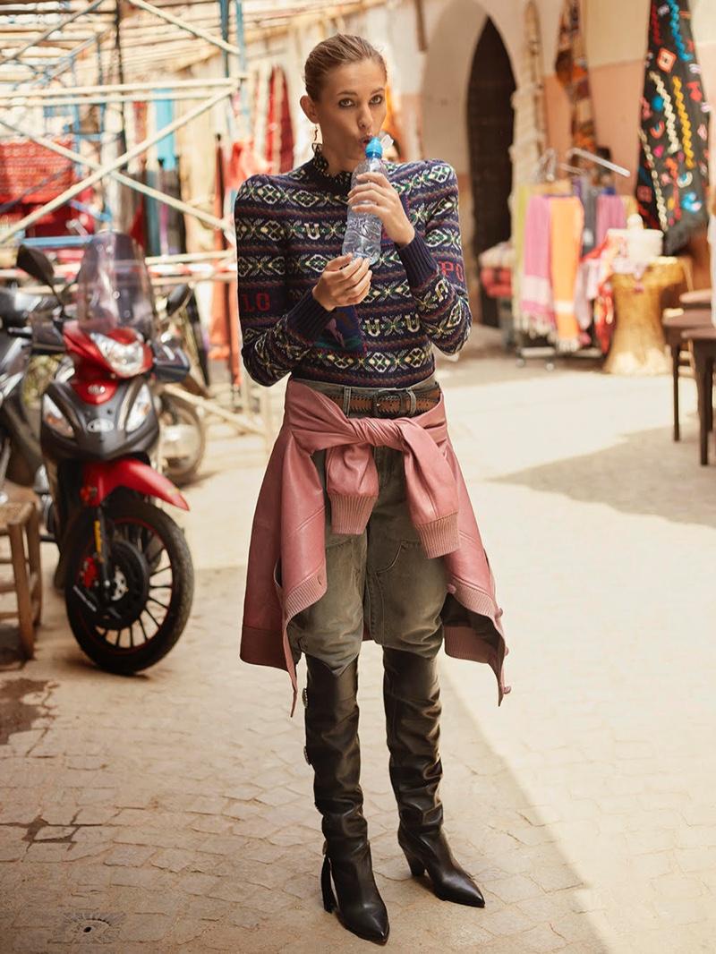 Nadja Bender Poses in Morocco for TELVA Magazine