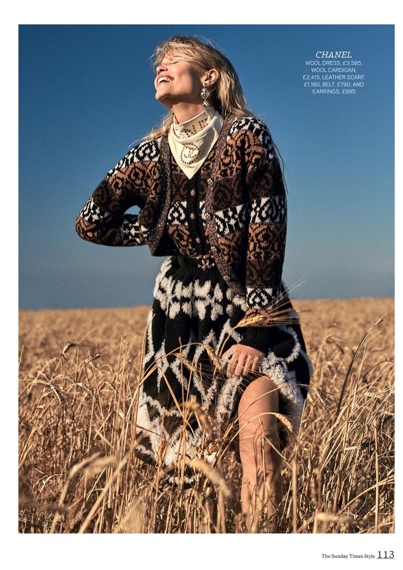 Natasha Poly Embraces New Season Trends for Sunday Times Style