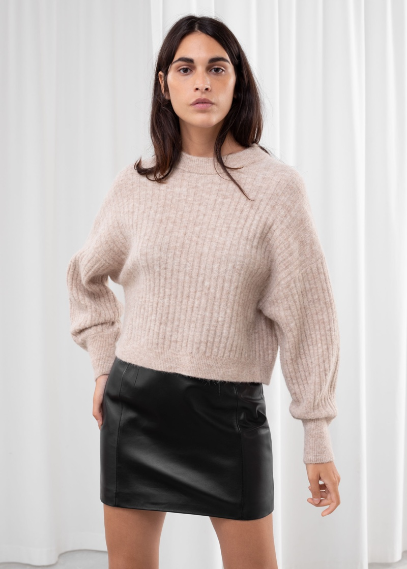 & Other Stories Alpaca Blend Knit Sweater in Light Beige $119