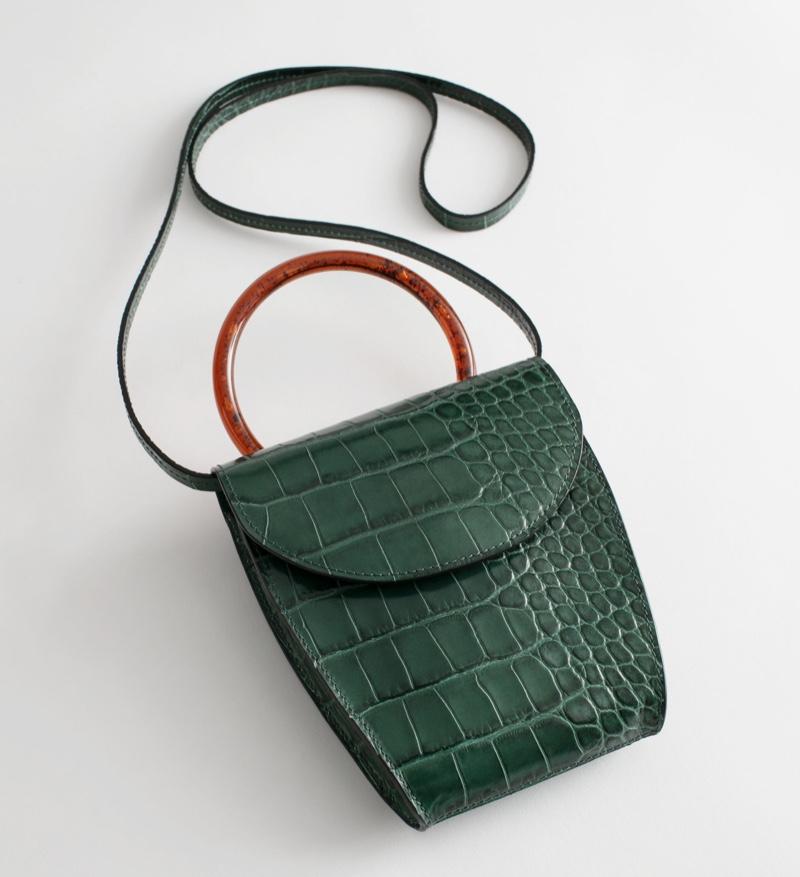 & Other Stories Resin Handle Mini Croc Bag $89