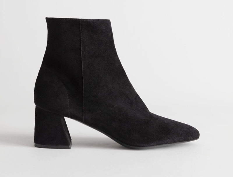 & Other Stories Suede Block Heel Ankle Boots $149
