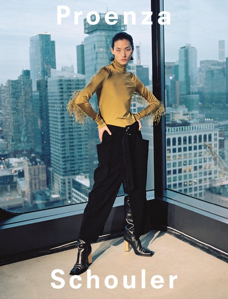 Lina Zhang appears in Proenza Schouler fall-winter 2019 campaign