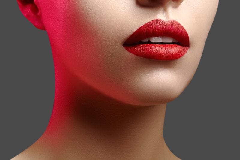 Red Lips Beauty Full Closeup Beauty Makeup