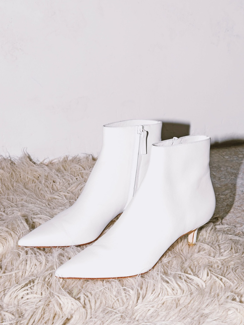 Reformation Charlotte Boot in White $298