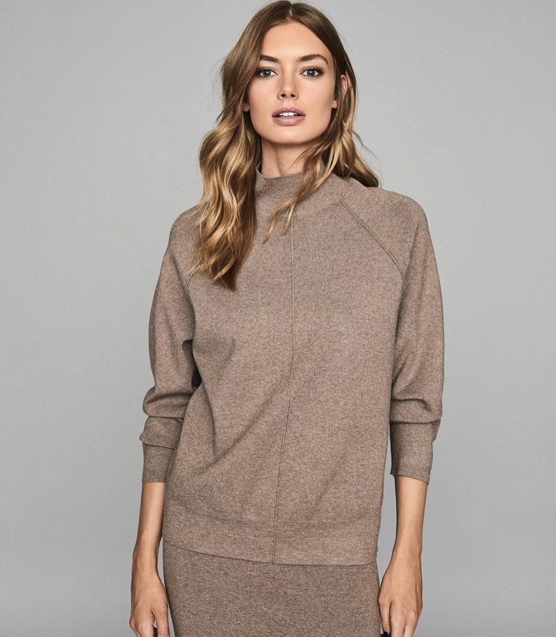 Reiss Andrea Knitted Funnel Neck Sweater $240