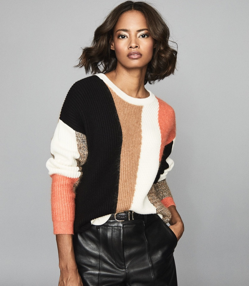 Reiss Sandy Color Block Knitted Jumper $295